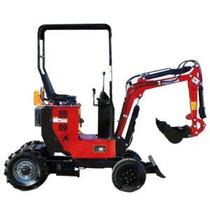 Minibagger mit 4 Rädern, Benzinmotor & verstellbarem Fahrwerk