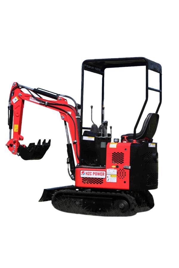 Excavator with pivoting arm