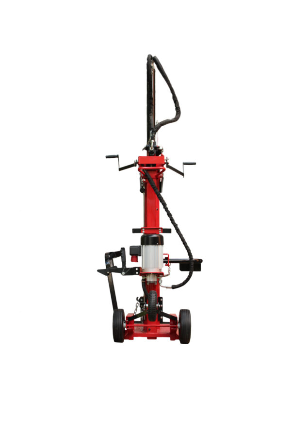 9 t upright wood splitter with 400V/4300W electric motor
