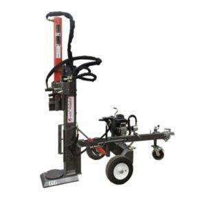 22 t upright & lying wood splitter with petrol engine, turntable & hydraulic position adjustment