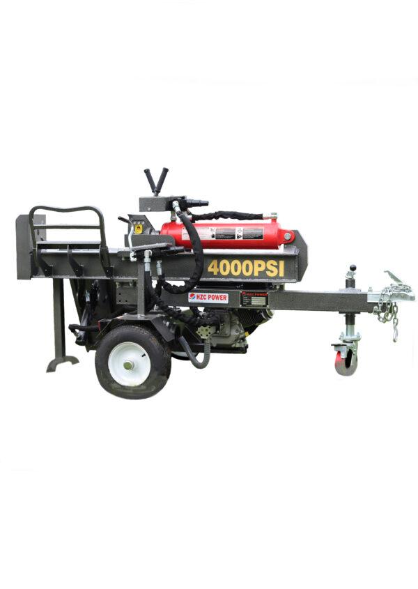 40 t horizontal log splitter with petrol engine & log lifter