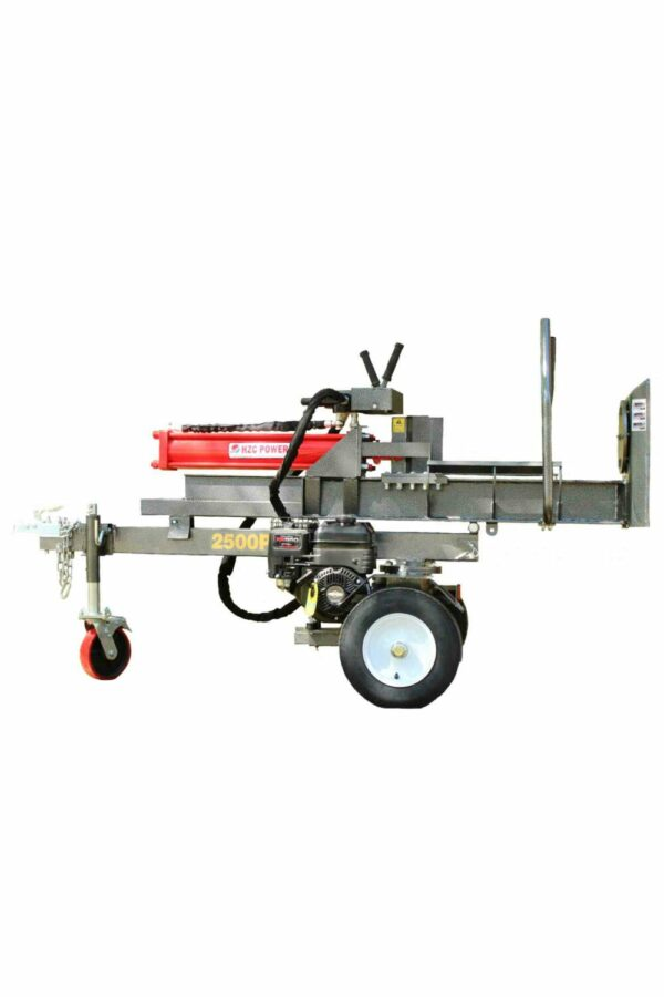 25 t upright & lying wood splitter with petrol engine & support arms